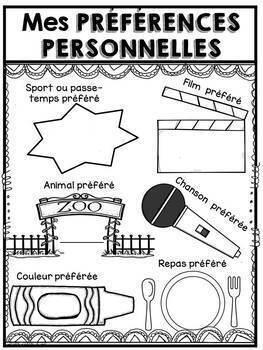 FRENCH All About Me Folder- Je me présente