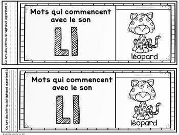 FRENCH Alphabet Beginning Sound Flipbooks/ Livres à rabats A à Z-Sons initiaux