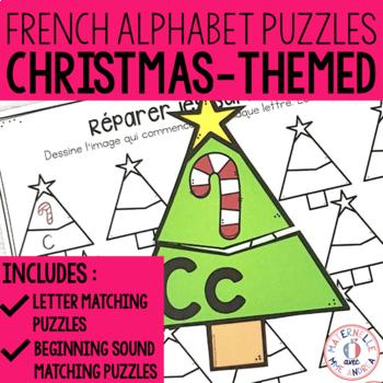 Alphabet Noel french alphabet christmas literacy centre - lettres et sons initiaux