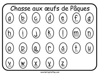 Alphabet Easter Egg Hunt (French)