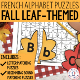 FRENCH Alphabet Fall Autumn Literacy Centre - Lettres et sons initiaux
