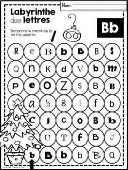 FRENCH Alphabet Mazes/Labyrinthes de l'alphabet