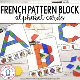 FRENCH Alphabet Pattern Blocks Math / Literacy Centre Cards