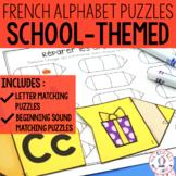 FRENCH Alphabet School Literacy Centre - Lettres et sons initiaux (La rentrée)
