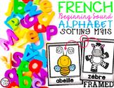 FRENCH Alphabet Sorting Mats {Framed}