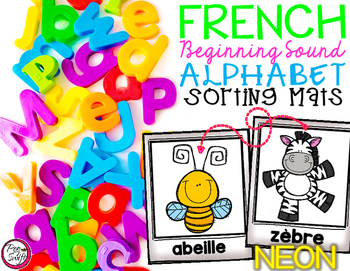 FRENCH Alphabet Sorting Mats {Neon}
