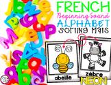 FRENCH Alphabet Sorting Mats {Neon}