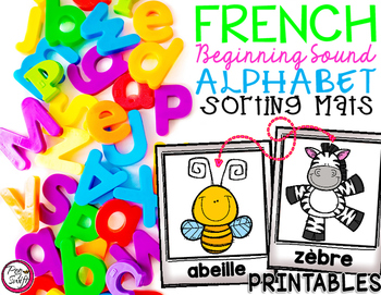 FRENCH Alphabet Sorting Mats {Printables}