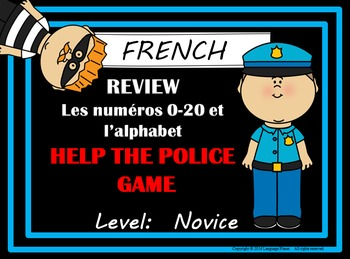 FRENCH - Alphabet and Numbers 1-20  Review Game - Students
