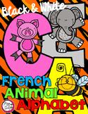 FRENCH Animal Alphabet {Black & White Printables}