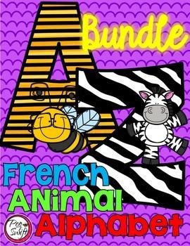 FRENCH Animal Alphabet BUNDLE
