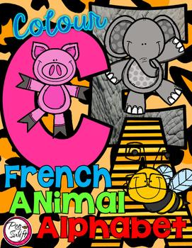 FRENCH Animal Alphabet {Colour}