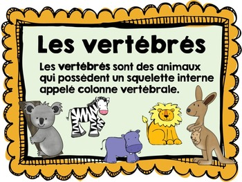 French Animal Classification Posters (La classification des animaux)