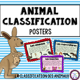 French Animal Classification Posters (La classification de