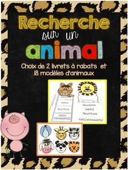 FRENCH Animal Research Flipbook/Livre à rabats - Recherche sur un animal