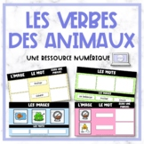 FRENCH Animal Verbs - les verbes des animaux - Digital Resource