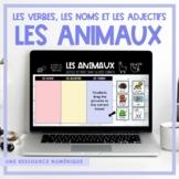 FRENCH Animals - Les verbes, les noms et les adjectifs - D