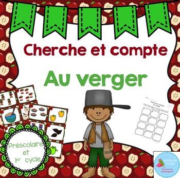 FRENCH Apple Count the room/ Cherche et compte (Pommes)