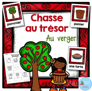 FRENCH {Apple Orchard words Scavenger Hunt}/ Au verger {chasse aux mots}