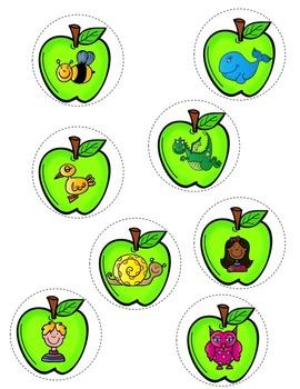 FRENCH Apples ABC Center/ Atelier Alphabet (Pommes)