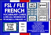FRENCH VOCABULARY CARDS WITH REFERENCE & RECALL WORKBOOK #2