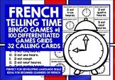 FRENCH TELLING TIME O'CLOCK BINGO GAMES O'CLOCK
