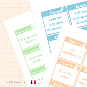 French Board Game⎜Ask questions, answer and write ⎜Printable Board Game