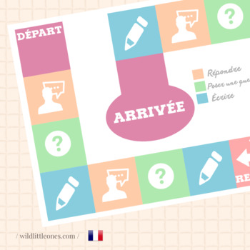 French Board Game⎜Ask questions, answer and write ⎜Printab