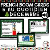 FRENCH BOOM CARDS - 5 au quotidien – DÉCEMBRE - Jeux AUDIO