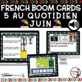 FRENCH BOOM CARDS - 5 au quotidien – JUIN- Jeux AUDIO interactifs