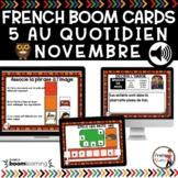 FRENCH BOOM CARDS - 5 au quotidien – NOVEMBRE - Jeux AUDIO