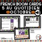 FRENCH BOOM CARDS - 5 au quotidien – OCTOBRE - Jeux AUDIO