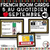FRENCH BOOM CARDS - 5 au quotidien – SEPTEMBRE - Jeux AUDI