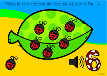 FRENCH BOOM CARDS • Ladybug Counting 0-20 avec AUDIO