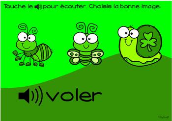 FRENCH BOOM CARDS • Les verbes • LA SAINT PATRICK avec Audio