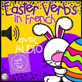 FRENCH BOOM CARDS • Les verbes • PÂQUES avec Audio