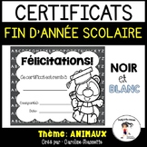 FRENCH BW End of Year Awards- Animals/ Certificats de fin d'année - Animaux