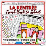 FRENCH Back to School Activity Pack / La rentrée