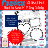 FRENCH - Back to School- My Summer Vacation Worksheet for 1st Day of School