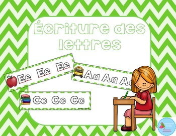 FRENCH {Back to school ABC center}/ Alphabet {Atelier calligraphie}