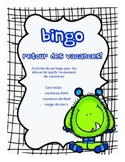 FRENCH Back to school Bingo retour des vacances