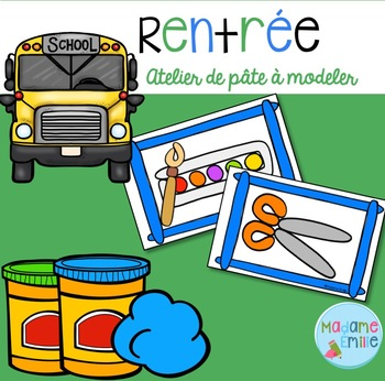 FRENCH Back to school Playdough mats/ Rentrée (pâte à modeler)