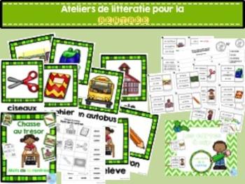 FRENCH {Back to school} literacy pack/ Ensemble littératie Rentrée