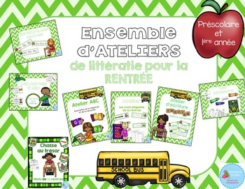 FRENCH {Back to school} literacy pack/ Ensemble littératie