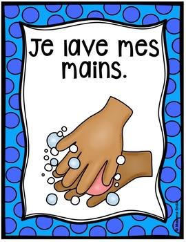 FRENCH Bathroom/Hand washing routine/ Règles d'hygiène(Affichage et activités)