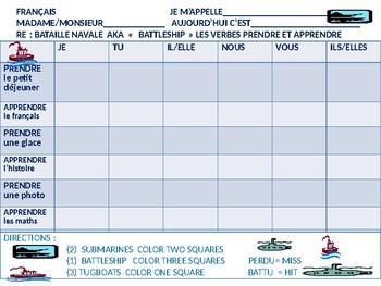 FRENCH:  Battleship  Prendre et Apprendre