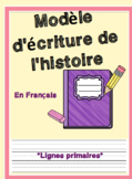 FRENCH Beginning, Middle and End Story Writing Template With Primary Lines
