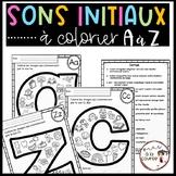 FRENCH Beginning Sounds Color A to Z / Sons initiaux à colorier A à Z