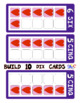 FRENCH Build 10 Hearts Large Math Game Cards