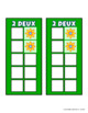 Build 10 Math Game Cards in French Handheld Size with Flowers